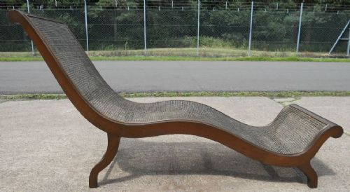 Mahogany Framed Bergere Shaped Daybed